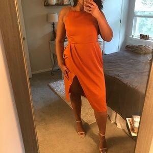 ASOS Drape Backless Midi Dress